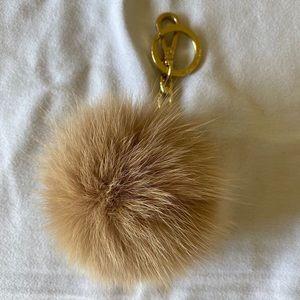 Extra large Michael Kors fur keychain